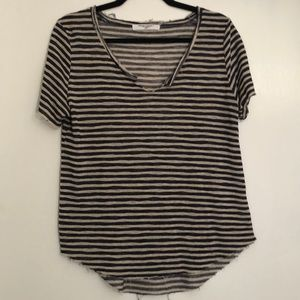 Project Social T Distressed Striped Shirt